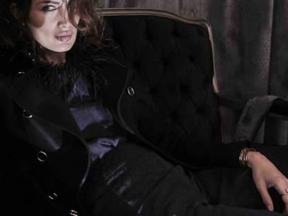 Nieves Álvarez, con un 'look' muy masculino