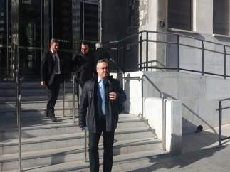 El empresario Francisco Javier Guerrero, a su salida del Palacio de Justicia