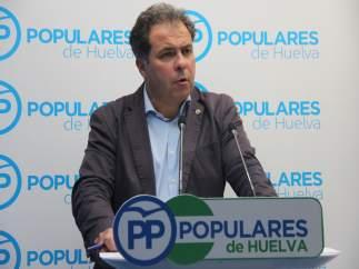 Juan Carlos Duarte, portavoz de la dirección provincial del  PP de Huelva.