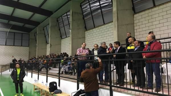 Inauguración del pabellón polideportivo