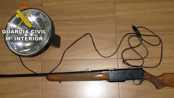 Zamora.- Material incautado por la Guardia Civil
