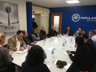 El presidente del PP andaluz, Juanma Moreno, en Huelva.