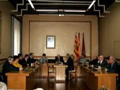 Pleno extraordinario del Ayuntamiento de Alcañiz (Teruel)