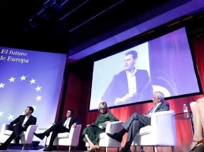 Albert Rivera, Manuel Valls, Mario Vargas Llosa e Inés Arrimadas