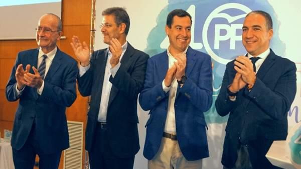 De la Torre, Catalá, Moreno, Bendodo. 40 años PP de Málaga