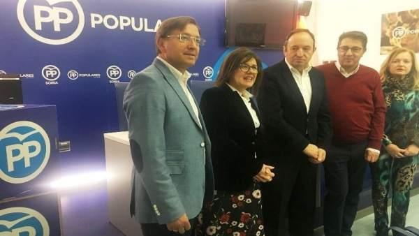 Soria.- Pedro Sanz, durante su visita a Soria