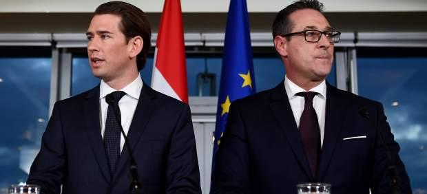 Conferencia de prensa de ÖVP y FPÖ en Viena