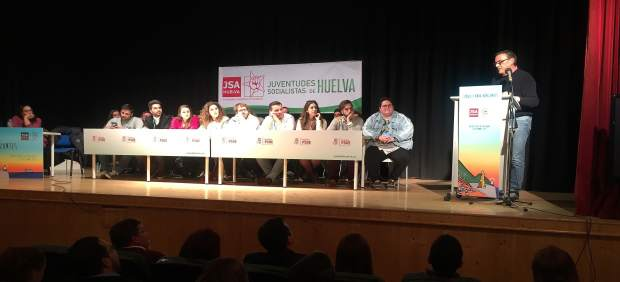 Ignacio Caraballo interviene en el Congreso de Juventudes Socialistas de Huelva