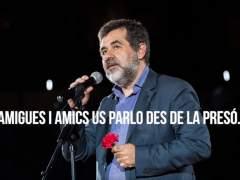 Sanción a Jordi Sànchez en la cárcel por difundir un mensaje para un mitin