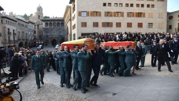 Funeral por guardias civiles asesinados