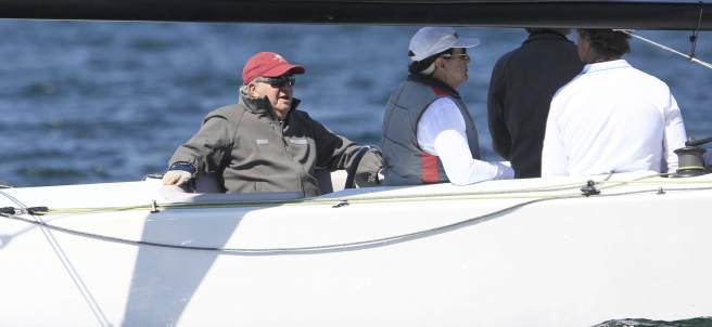 Juan Carlos I, navegando