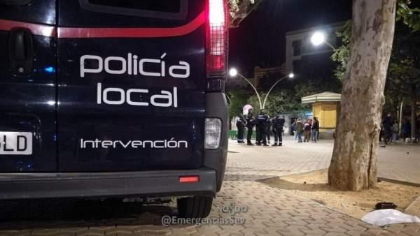 Policía Local Sevilla en el desarrollo del dispositivo