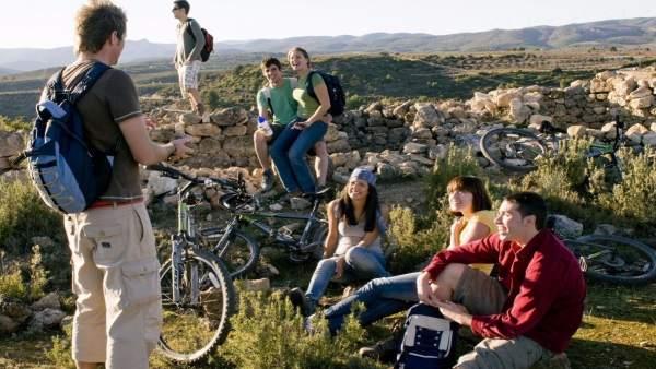 Visita turística a una vía verde