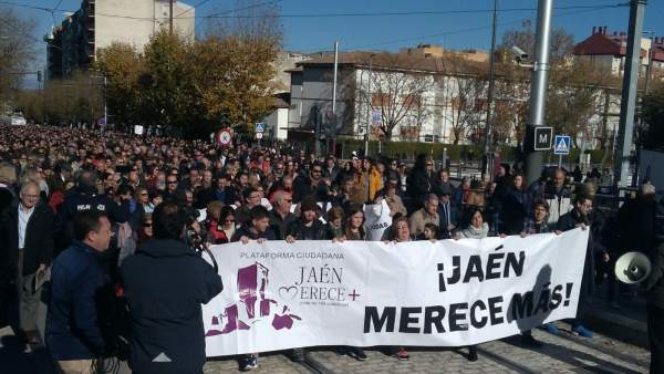 Manifestación de Jaén merece más