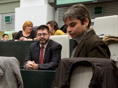 El concejal Jorge García Castaño y el cesado Carlos Sánchez Mato