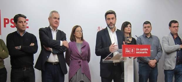 RUEDA DE PRENSA PSOE CON JOAQUÍN LÓPEZ AL FRENTE