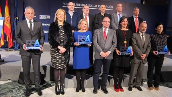 Entrega de los Premios Responsabilidad Social de Aragón 2017