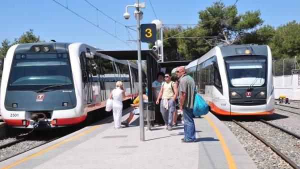 El TRAM d'Alacant en Benidorm