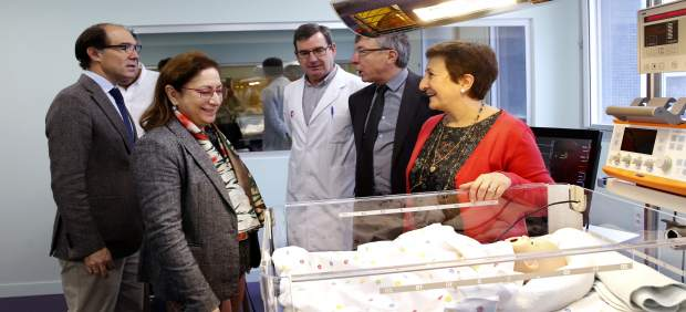 La consejera de Sanidad, María Luisa Real, en el Hospital Virtual Valdecilla
