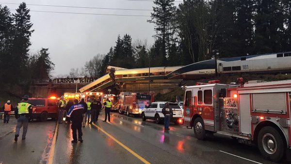 Descarrilamiento de un tren en Washington