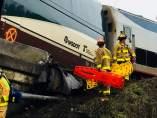 Tren descarrillado en EE UU
