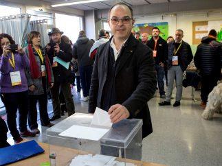 Turull ejerce su derecho al voto
