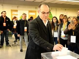 Jordi Turull, votando.