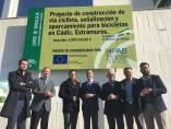 Nota Y Fotos Inicio Obras Carril Bici Cádiz