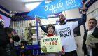 La lotera que ha repartido el Gordo en Madrid