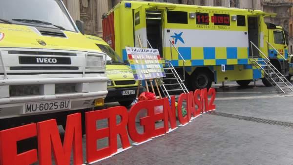 Emergencias. Vehículos de Protección Civil. 112 Región de Murcia