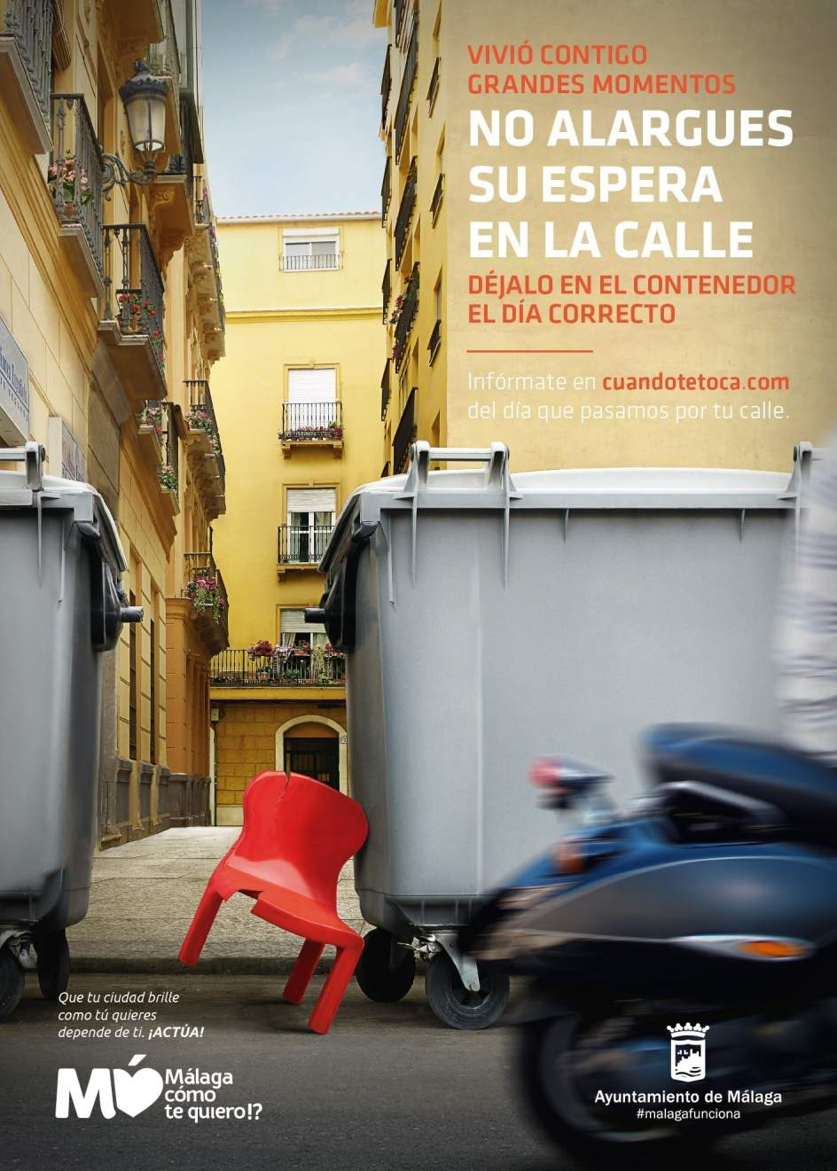 Ayuntamiento de m laga pone en marcha una web que informa for Recogida muebles cadiz