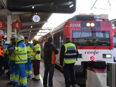Accidente de tren en Alcalá