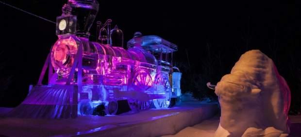 Festival de esculturas de hielo en Holanda