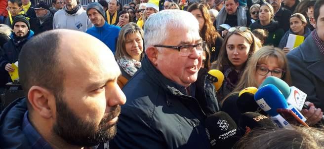 Agustí Alcoberro (ANC) y Marcel Mauri (Òmnium Cultural)