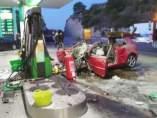 Siniestro en una gasolinera de Benicàssim