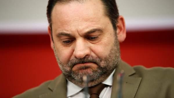 José Luis Ábalos, secretario de Organización del PSOE, la noche del 21-D.