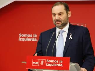 José Luis Ábalos, secretario de Organización del PSOE, en Ferraz.