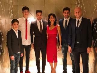 Zidane, en familia