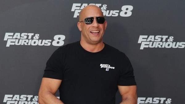 Vin Diesel en la presentación de Fast & Furious 8