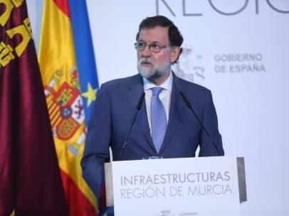 Mariano Rajoy en acto Murcia