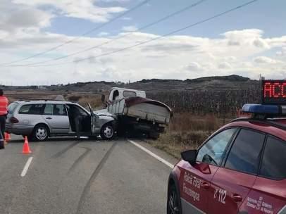 Accidente de tráfico en Corella.