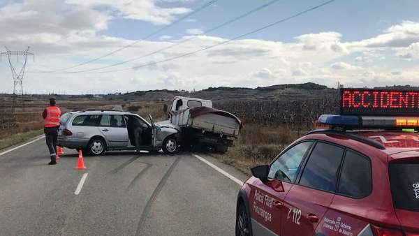 Accidente de tráfico en Corella.