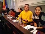 Oriol Ciurana y Marta Llorens (CUP Reus) en el pleno