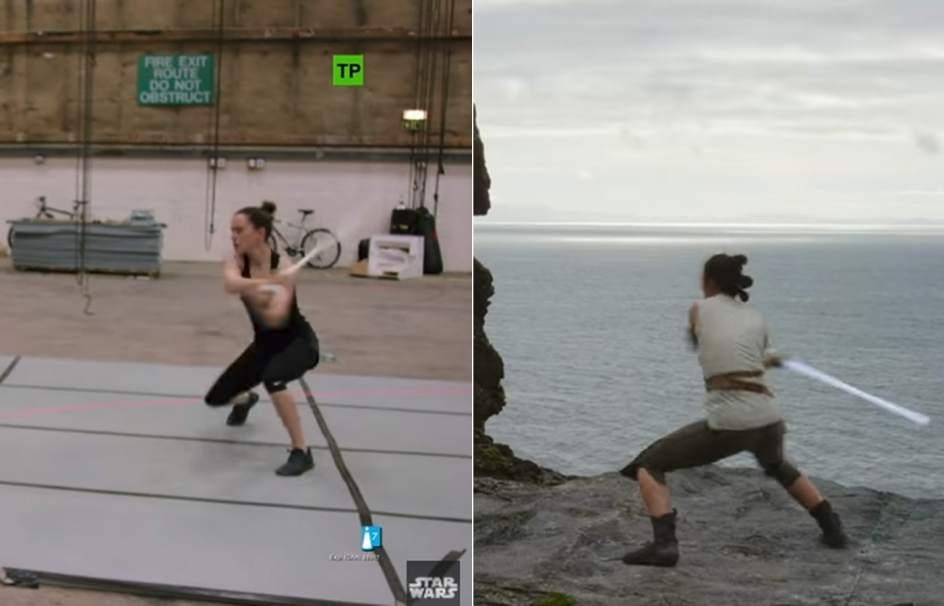 Escenas inéditas de 'Star Wars: Los últimos Jedi': así entrenaron sus protagonistas