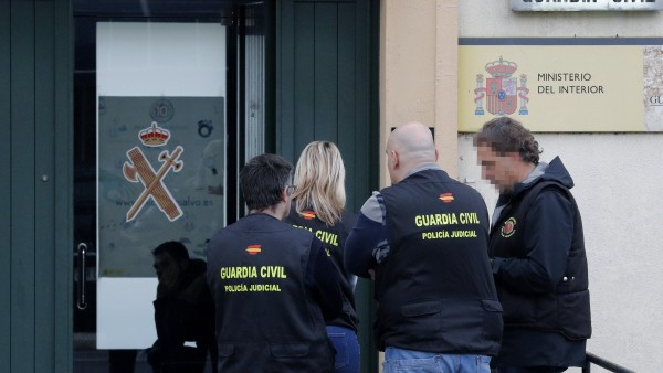Cuartel de Padrón, donde se han llevado las investigaciones tras la detención de 'El Chicle'
