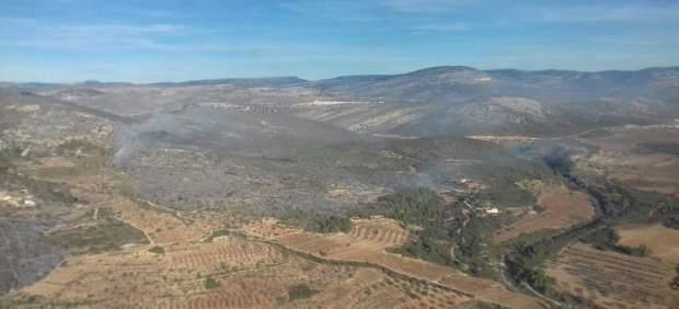 Vista aérea de la zona afectada