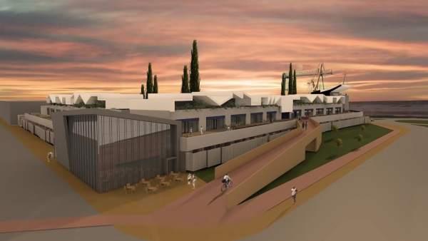 Plano de la futura Ciudad del Marisco de Huelva.