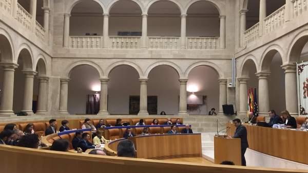 Intervención del consejero de Hacienda, Alfonso Domínguez