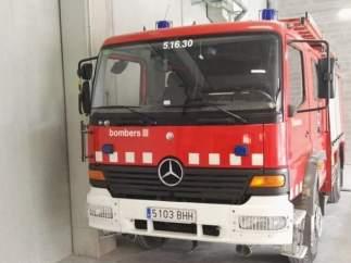 Un camión de los Bomberos de la Generalitat.