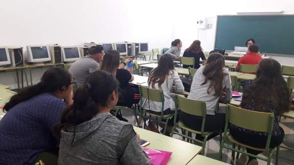 Alumnos del curso de Arboleas